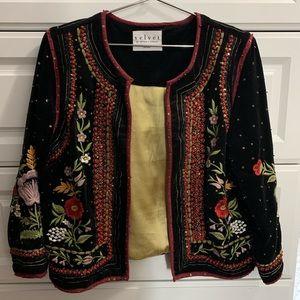 Beaded Velvet Jacket